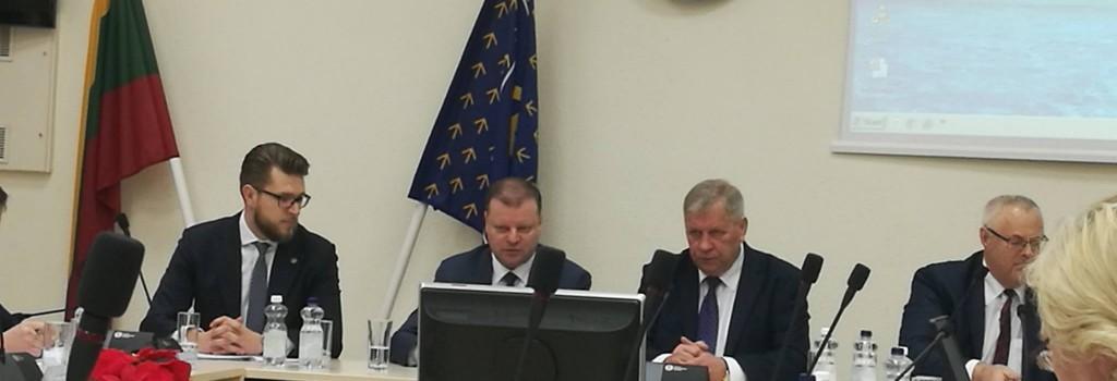 Susitikimas su LR ministru pirmininku Saulimi Skverneliu